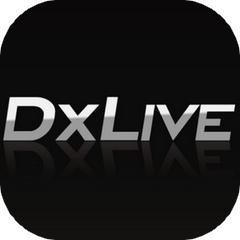 DXLIVEのアプリアイコン風のロゴ