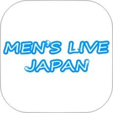 メンズライブジャパンのアプリアイコン風のロゴ