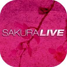 SAKURALIVEのアプリアイコン風のロゴ
